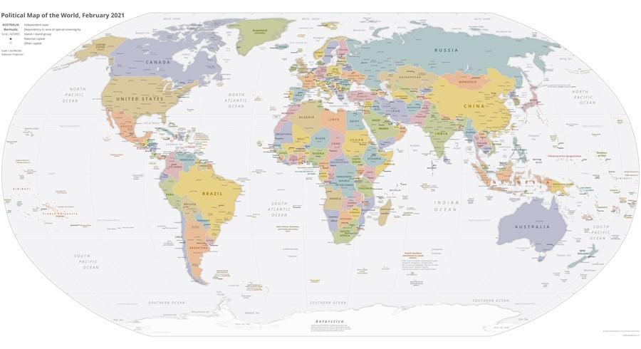 Politische Weltkarte